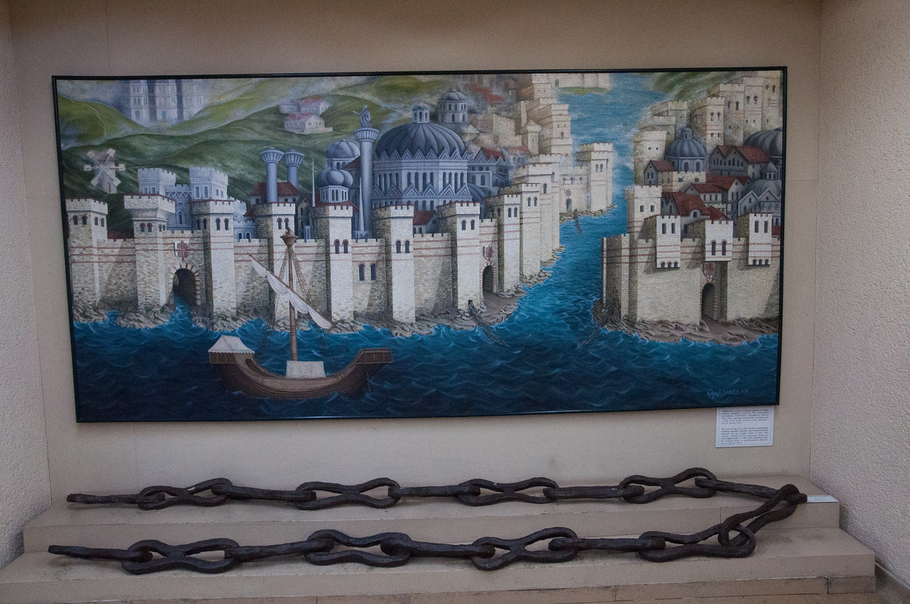 The REAL chains of Byzantium that were strung across the Golden Horn to keep out invaders