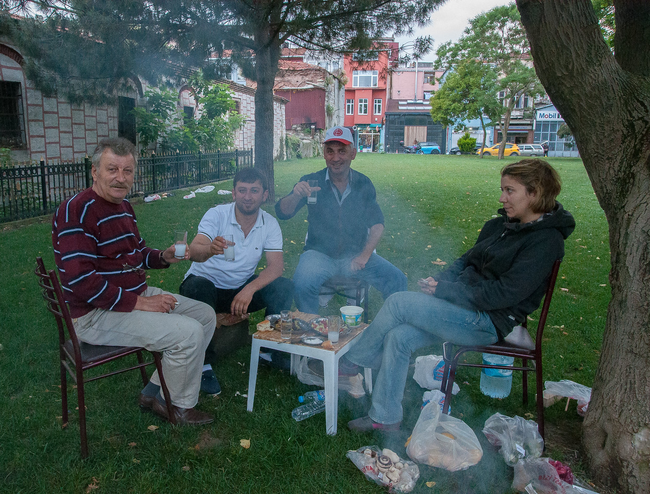 Some Picnickers I met enjoying some Raki