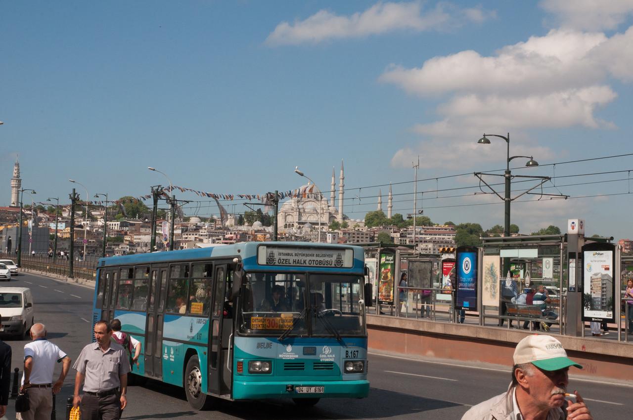 Public Transit on the Galata Bridge