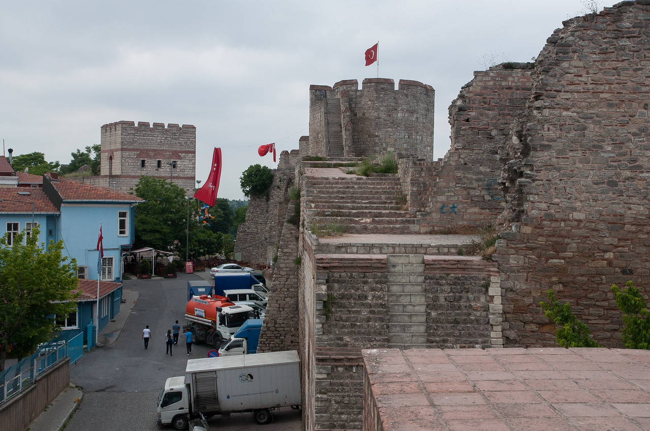 The Byzantine, Theodosian Walls; the ones knocked down by the Turks in 1453.