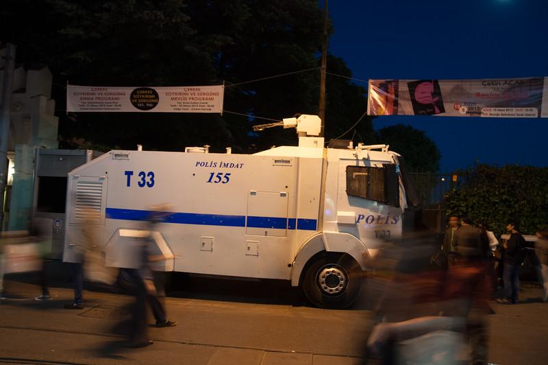 Riot Police always at the ready on Istlikal Caddesi