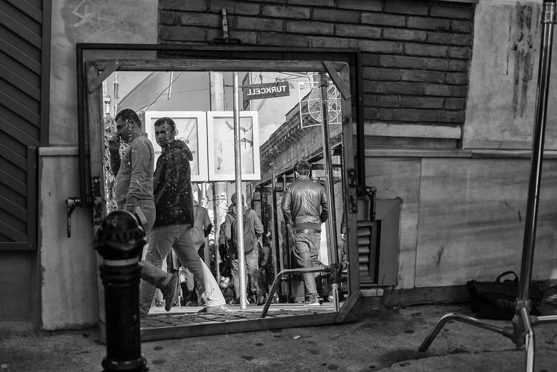 Walking reflections, Beyoğlu, Istanbul, Turkey