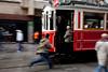 Catching the tram, Istiklal Cd., Beyoğlu, Istanbul, Turkey