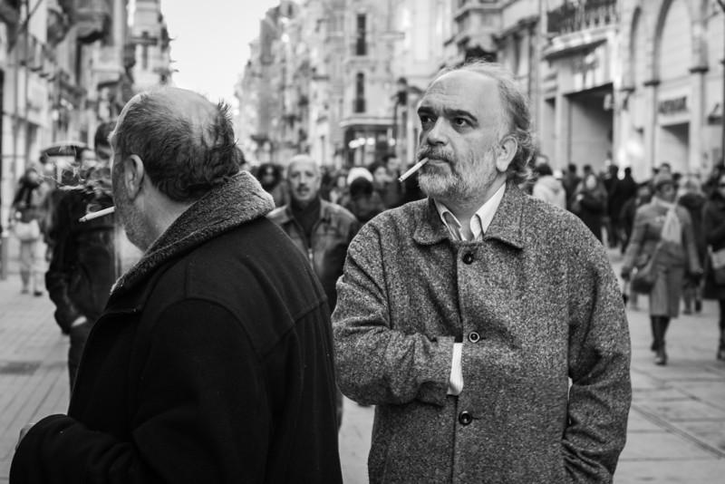 Smokers, Beyoğlu, Istanbul, Turkey