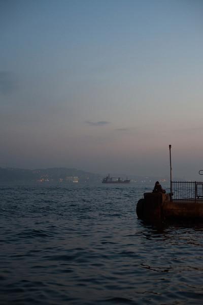 Pensive, Ortaköy ferry landing, Istanbul, Turkey