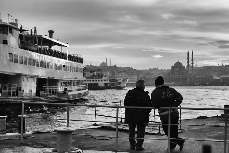Taking a break, Karaköy, Istanbul, Turkey