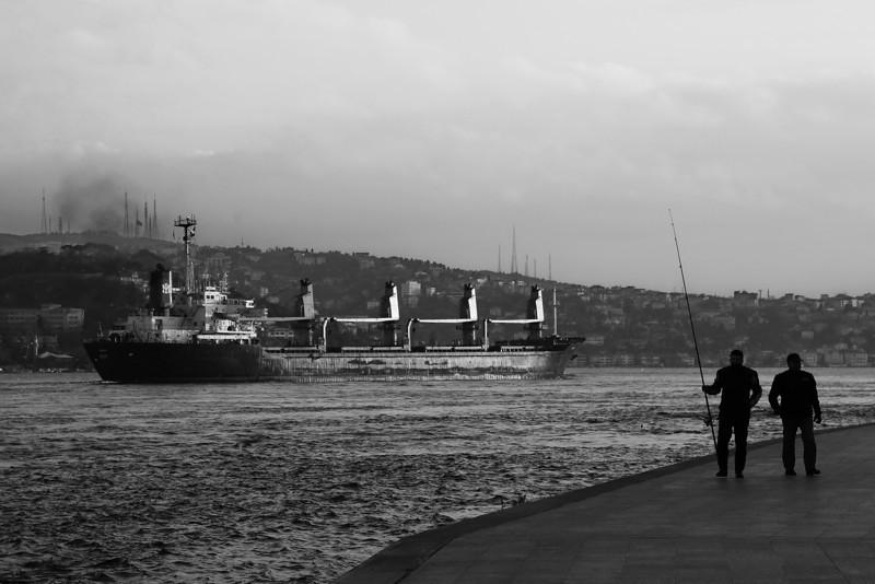Along the shore, Rumeli Hisarı, Istanbul, Turkey