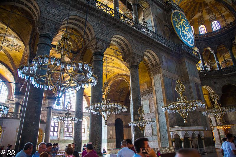 Chandeliers in Hagia Sophia