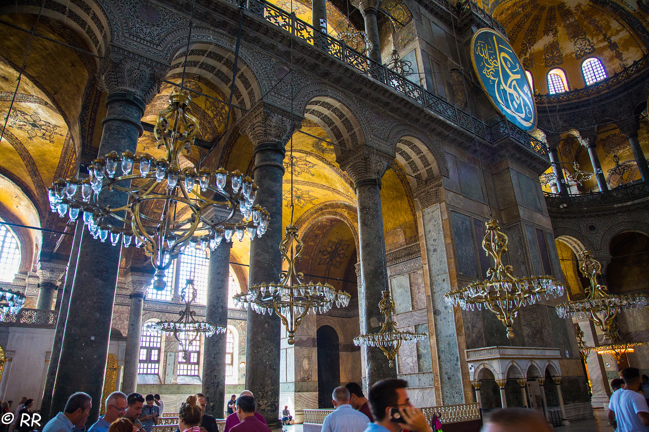 Chandeliers in Hagia Sophia