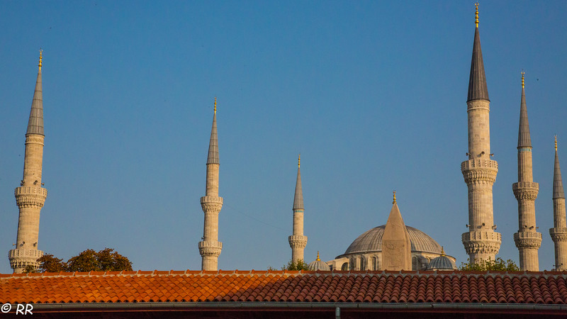 The Blue Mosque and it's six minarets