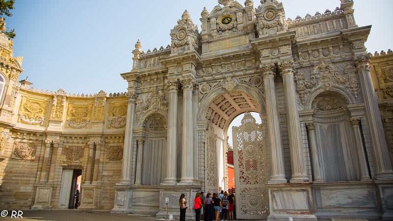 Dolmabahce Palace entrance gate