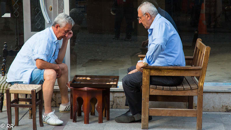 """Backgammon (""""tavla"""" in Turkish), is a very popular game in Turkey, played in local cafes, in front of shops, parks and even on streets."""