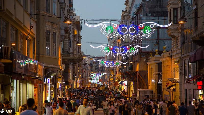 Istiklal Street at Dusk