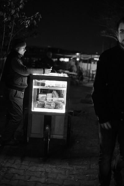 Evening snack, Karaköy, Istanbul, Turkey