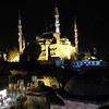 The Blue Mosque During the Evening Call to Prayer