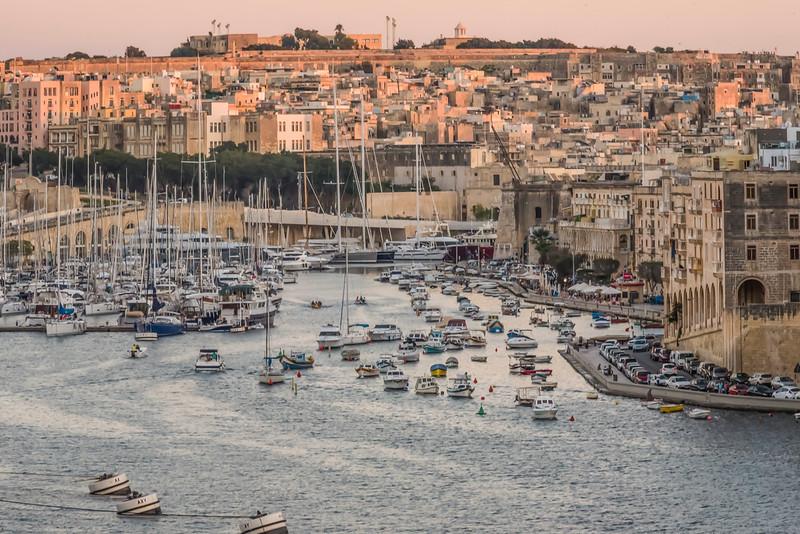 Valletta Harbor at Sunset
