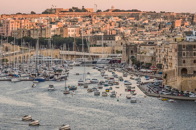 Valletta Harbor at Sunset