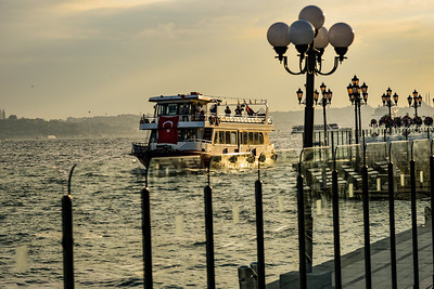 Istanbul tour boat on the Bosporus Sea