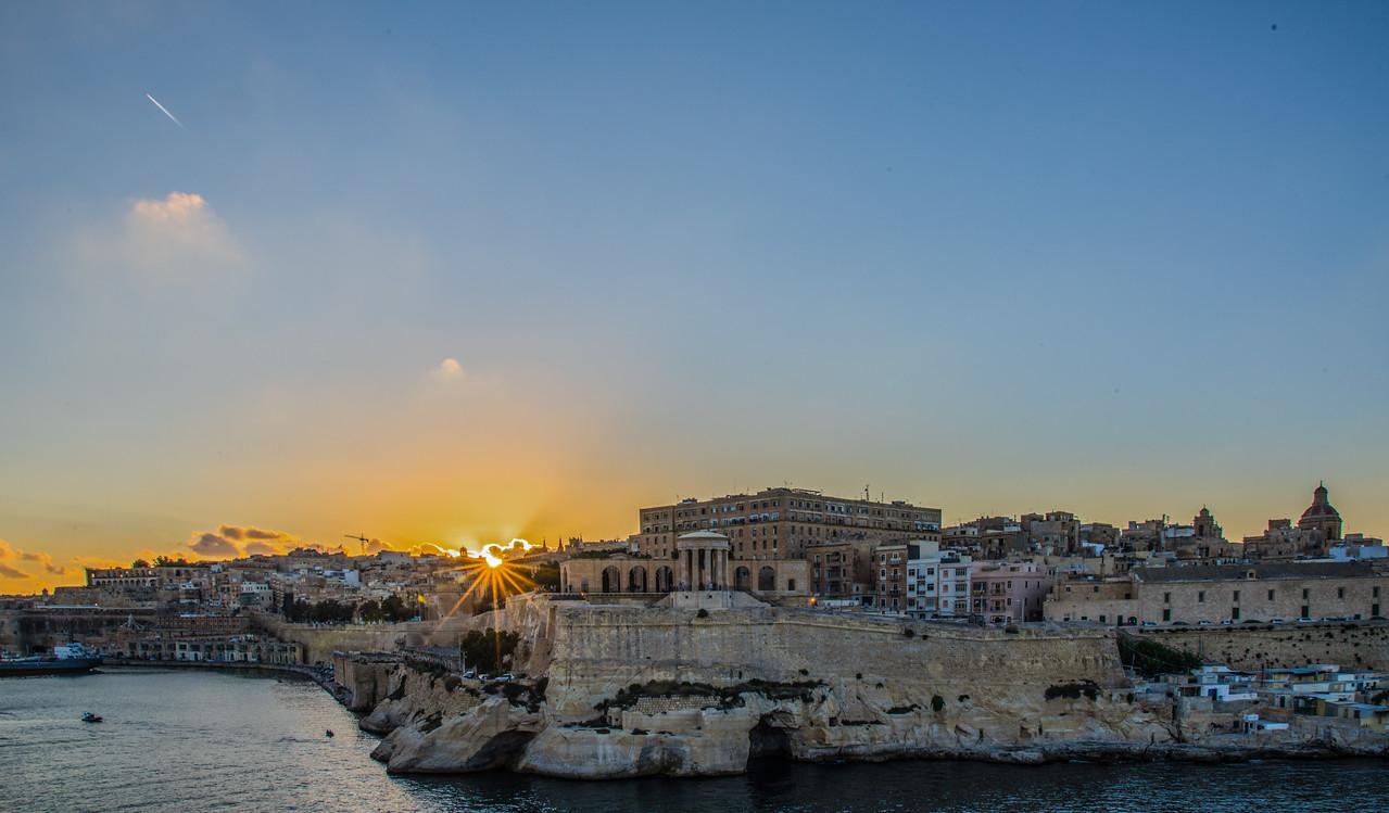 Sunset in Valleta