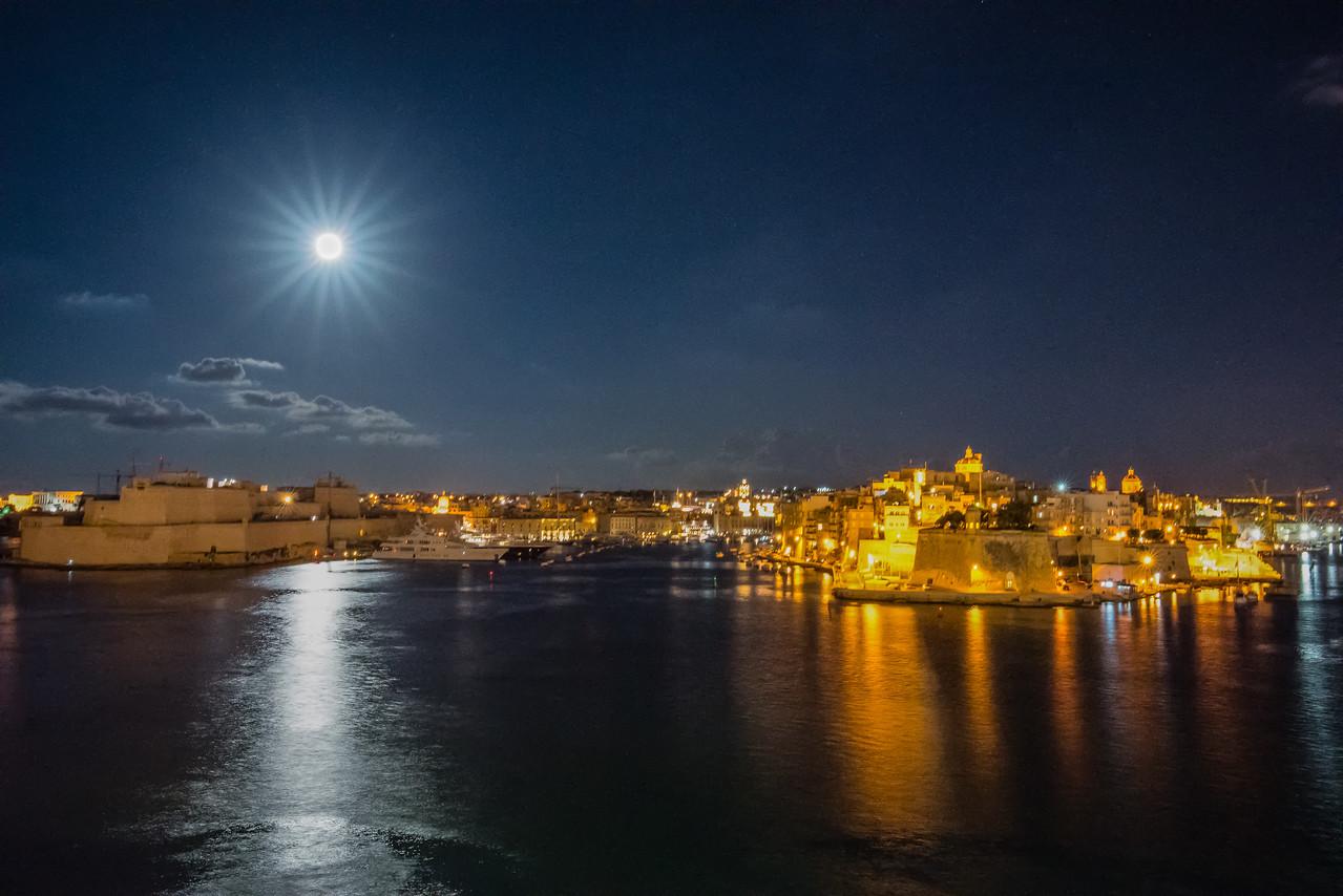 Moonlit Valetta