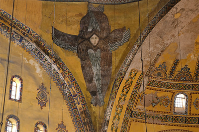 Seraphim painting in the Hagia Sofia, Istanbul.