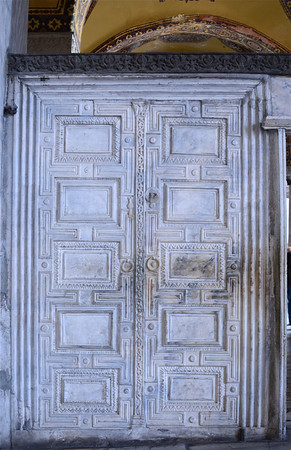 Marble doors in the Hagia Sophia.