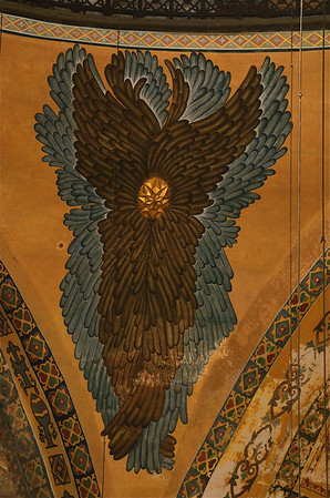 Seraphim painting in the Hagia Sophia, Istanbul.
