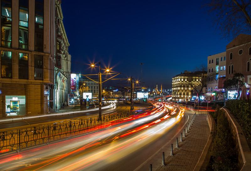 Rush hour traffic in Istanbul Turkey.