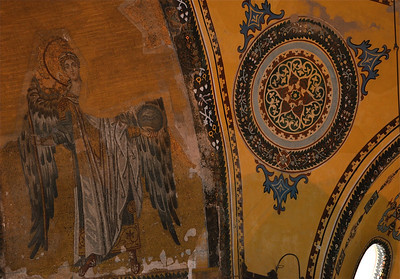 Inside the Hagia Sophia.