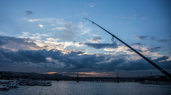 Fishing in the sky
