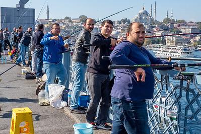 Fishing, Istanbul, fall 2017