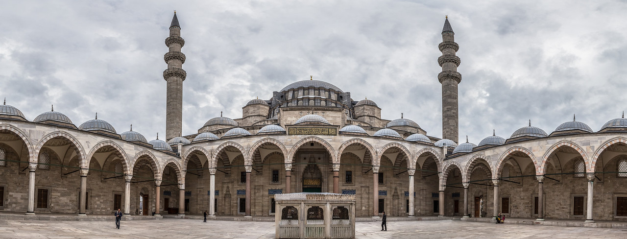 Courtyard of the Süleymaniye Mosque.