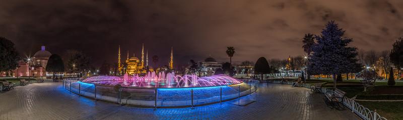 Sultan Ahmet Park in Istanbul Turkey.