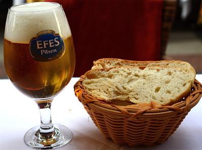 Turkish Efes beer, Istanbul.