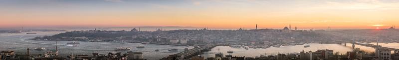 Panorama of Istanbul Turkey.