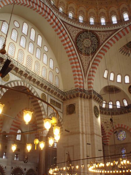 Interior of the Suleymaniye.