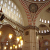 Interior of the Suleymaniye.