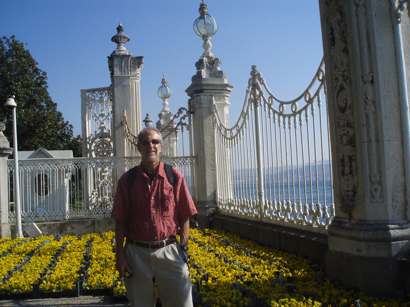 """The palace is directly on the Bosperus, looking across the water to the """"Asian"""" side of Istanbul."""