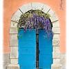 Door with Wisteria