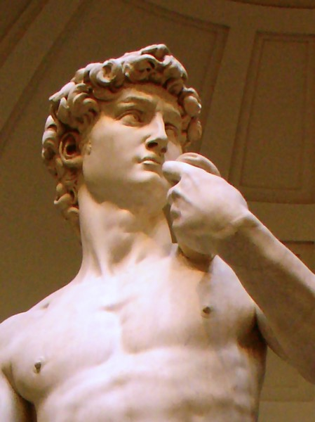 Escultura de Davi de Michelangelo na Galleria dell'Accademia