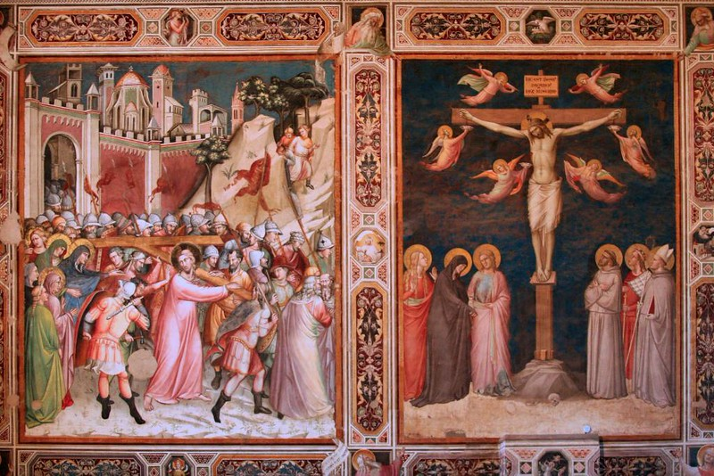 Afresco de Giotto na Basílica de Santa Croce