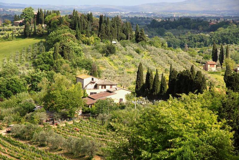 Vistas da Região da Toscana