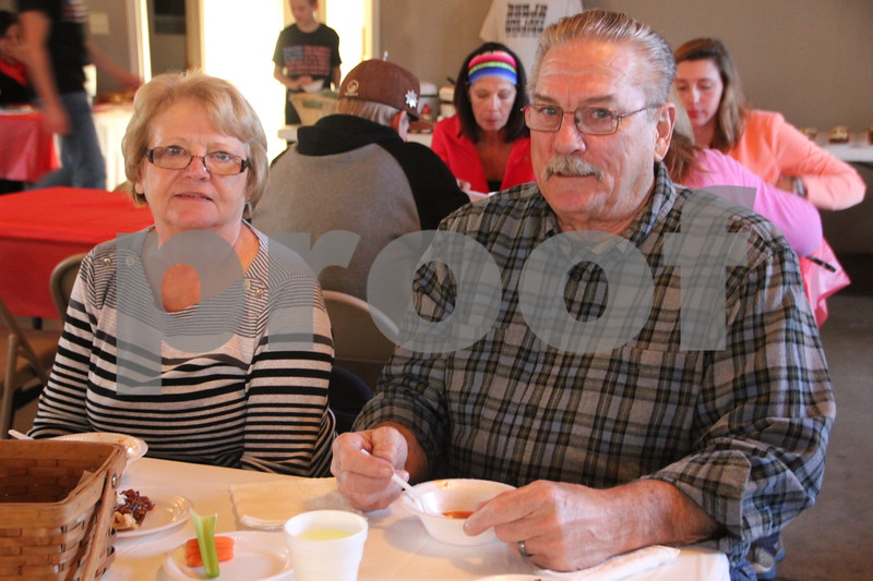 On Sunday, November 8, 2015, Rides Banquet Center in Fort Dodge, was the scene of the Fort Dodge Soup Supper Honoring Veterans, Viet Nam veterans in particular. Seen here is (left to right):  Judy and Terry Hiler.