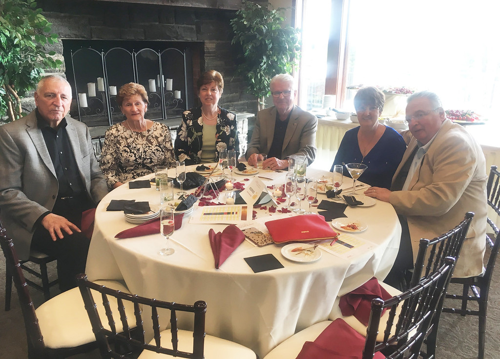 . From left, Nathan and Gloria Scollo of Chelmsford, Carol and John McOsker of Dracut, and Elaine and Ray Valcourt of Tyngsboro