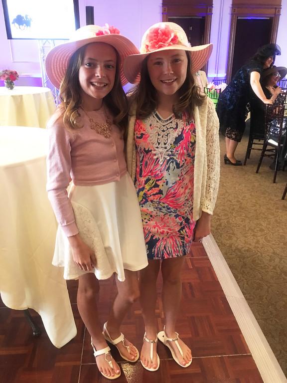. Sisters Molly and Mya Shanahan of Dunstable