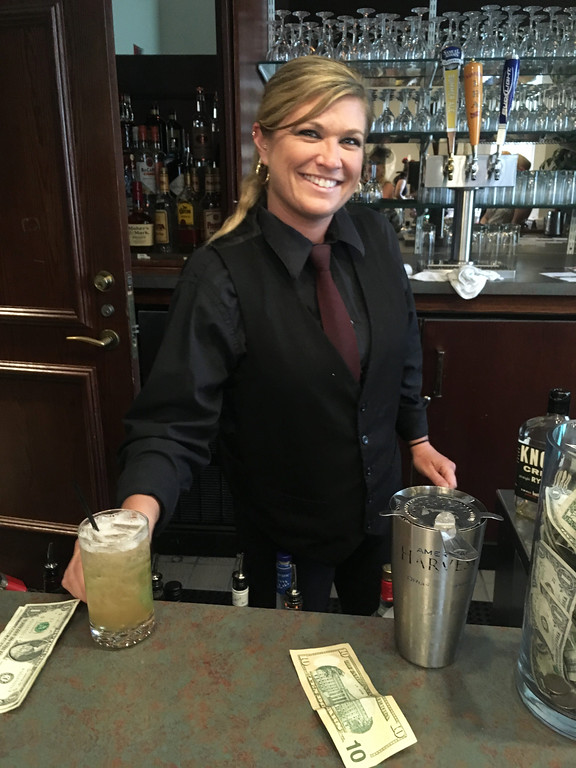 . Bartender Stacie Cusano of Manchester, N.H.