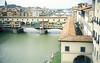 Vista trasera del Ponte Vecchio desde la Galeria Uffizi