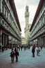 Palazzo Vecchio. A la derecha está la Galeria Uffizi