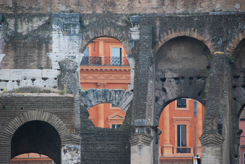 Old and ancient (the Colosseum) side by side, Roma, 2011.