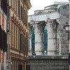 Columns from Trajan's Market viewed from Via San Francesco Aripa, Rione di Monti, Roma, 2010.